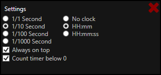 TinyTimer Settings